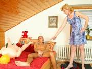 Mom-in-law seduces young stud