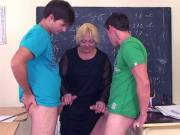 Hammering their teacher