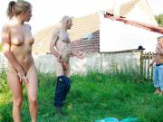 Gorgeous gf cheats outdoors