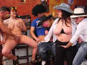 BBW dance party turns to orgy