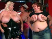 Naked fat chicks dancing in the pub