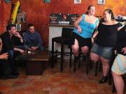 Girls banged in BBW group scene